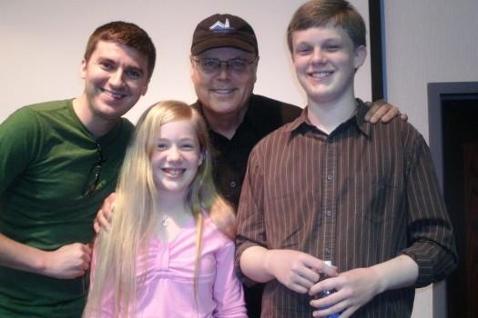 Josh Goforth, David Holt, Zeb Snyder and Samantha Snyder