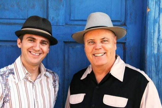 David Holt (right) and Josh Goforth debut their new show 'Carolina Heroes' Saturday night at White Horse Black Mountain. / Special to the Citizen- Times