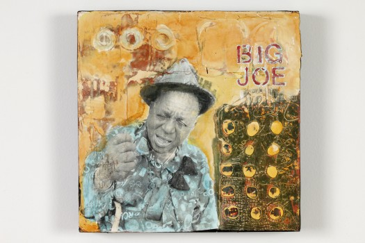 """Big Joe Williams,"" Mixed Media, 2014"